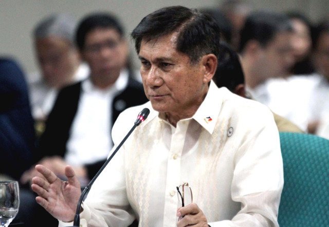 ENVIRONMENT CHIEF. Environment Secretary Roy Cimatu thinks the current 2% excise tax on mining is too small. File photo by Cesar Tomambo/Senate PRIB