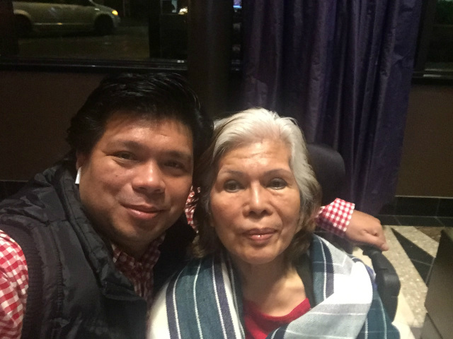 REFUGEE. Expelled INC member Lowell Menorca II and his mom in Canada. Sourced photo