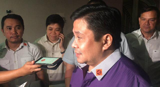 PLUNDER TRIAL. Plunder defendant Jinggoy Estrada attends his hearing at the Sandiganbayan on September 18, 2017 as a free man after 3 years and 3 months. Photo by Lian Buan/Rappler