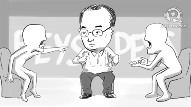 DIPLOMATIC NEGOTIATIONS. For Foreign Secretary Alan Peter Cayetano, it's like settling a neighborhood squabble. Illustration by Alejandro Edoria/Rappler