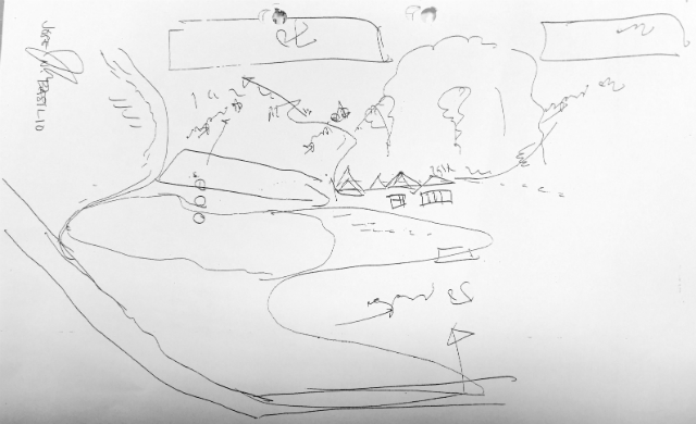 QUARRY. Among the documents submitted to the court was a sketch of the quarry owned by Bienvenido Laud done by a certain Jose Basilio with his signature visible on the upper left corner.
