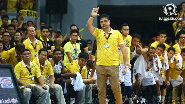 UNDER PROBE. Bong Dela Cruz, UST's head coach, is being investigated for unspecified reasons. File photo by Josh Albelda/Rappler