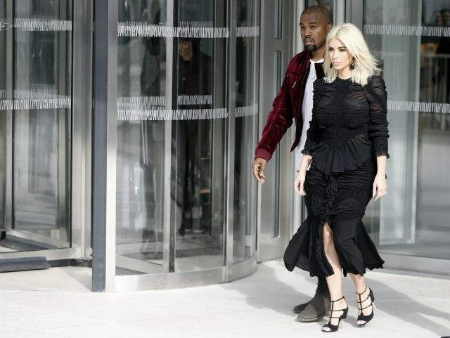 ARRIVAL. Kim Kardashian and Husband Kanye West arrive at Paris Fashion Week in Paris, France. File photo by Etienne Laurent/EPA