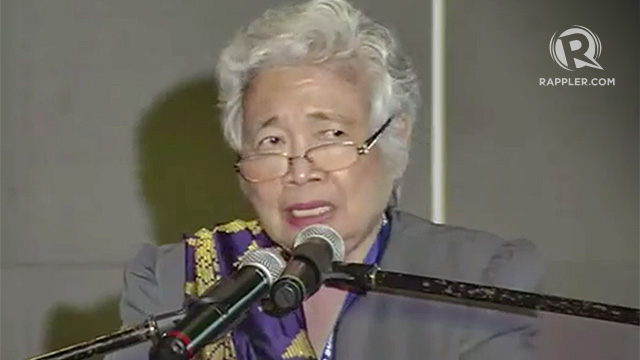 HUMAN RIGHTS. Education Secretary Leonor Briones says DepEd looks at human rights 'as really the framework of all that we are doing.' Screenshot from Rappler video