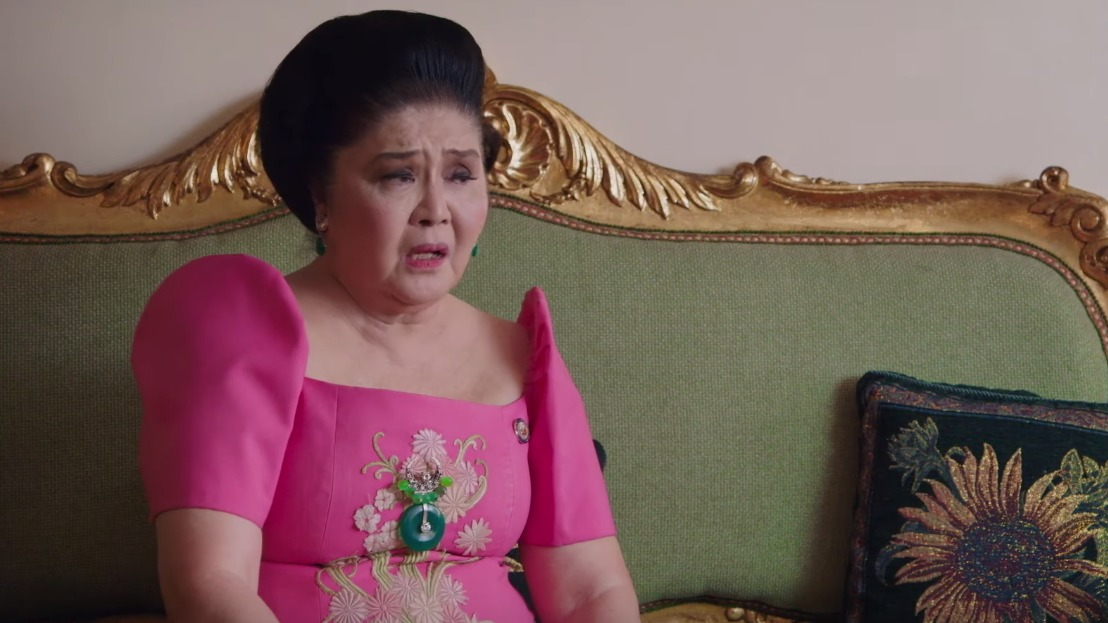CONTRASTS. For every Imelda braggadocio in the 'Kingmaker' film, there were family friends, foes, and ordinary Filipinos who contradicted her. Screenshot from trailer