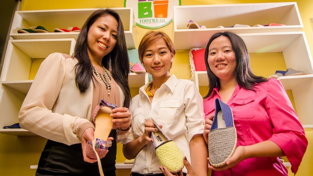Habi Footwear owners (L-R) Paola Savillo, Janine Chiong, and Bernadee Uy. Photo courtesy of the company