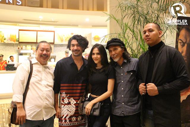 PREMIERE. Reza Rahadian bersama tamu undangan di gala premiere 'Gerbang Neraka