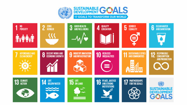 TARGETS. The Sustainable Development Goals. Image courtesy United Nations