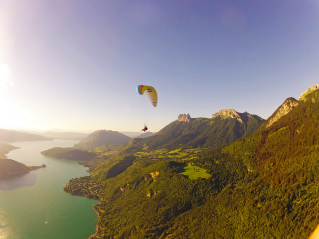 ADVENTURE. Paragliding over Annecy, France