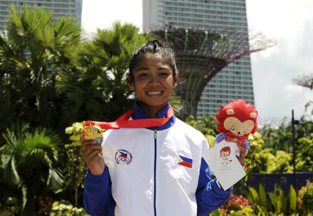 SALAMAT, MARELLA. Marella Salamat has only been cycling competitively for two years, but has already earned a gold medalist at the SEA Games. Photo by Singapore SEA Games Organising Committee/Action Images via Reuters