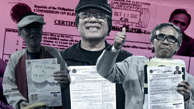 'COLORFUL BETS.' The Comelec urged the public to give 'colorful' hopefuls a chance to defend their bids for public office.