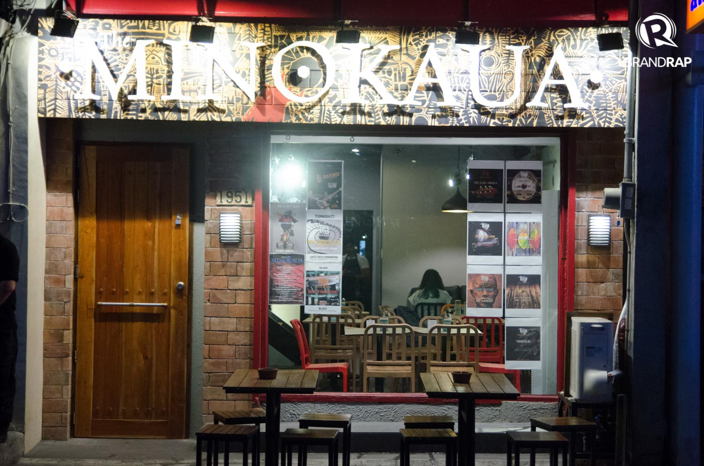 CREATIVE SPACE. Aside from offering good food and quality music, Minokaua hopes to revive Malateu2019s art scene. Photo by Pauee Cadaing/Rappler