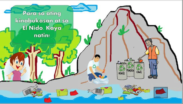 AWARENESS CAMPAIGN. An information campaign teaches El Nido residents about garbage segregation. Source: Be G.R.E.E.N (Guard, Respect, Educate, El Nido) module of El Nido Resorts.