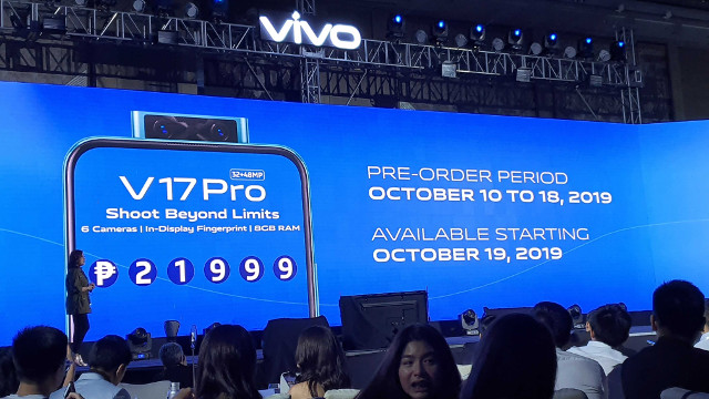 THE V17 PRO. Check out the price and availability of Vivo's V17 Pro. Photo by Gelo Gonzales/Rappler
