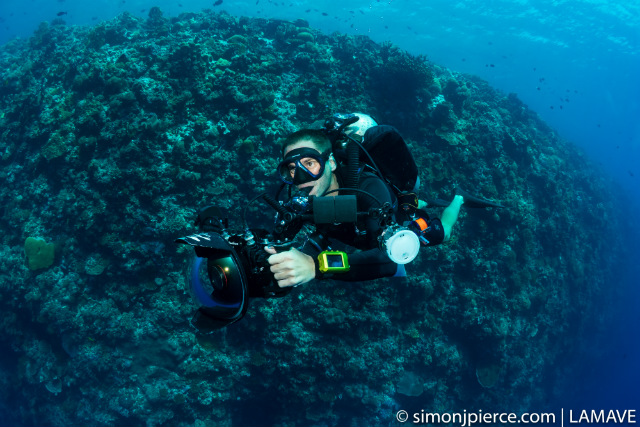 PHOTOGRAPHER STEVE. Steve, a professional conservation photographer and videographer, was the expedition's dedicated underwater cameraman. Simon Pierce/LAMAVE