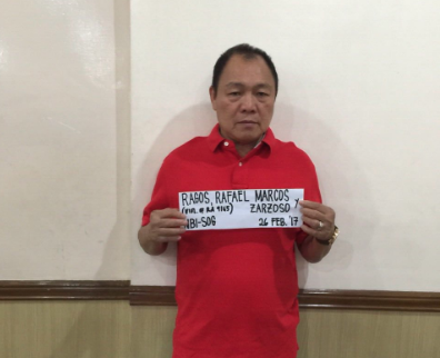 WITNESS. BuCor's former OIC, Rafael Ragos, surrenders to the National Bureau of Investigation in February 2017 for drug trade charges. He is now dropped from the case as he turns into witness. Photo courtesy of DOJ