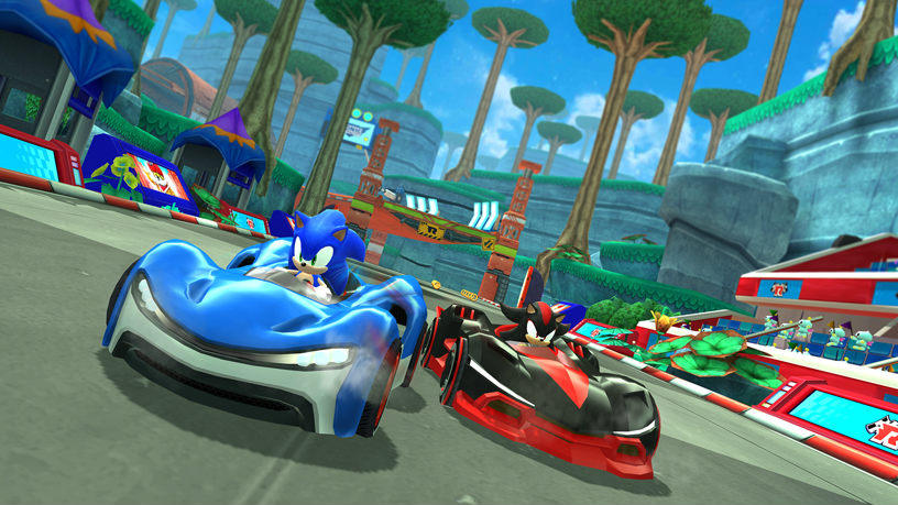 SONIC RACING. Sonic lands on Apple platforms via Apple Arcade. Photo from Apple