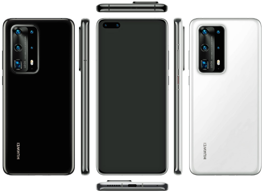 P40 PHONES. Several variants of the alleged P40 phones from Huawei as leaked by Evan Blass. Photo from Evan Blass/Twitter