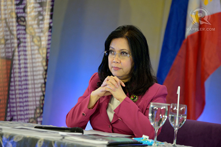CALL FOR SOBRIETY. Chief Justice Maria Lourdes Sereno issues a rare statement on the Maguindanao clash. File photo by Rappler