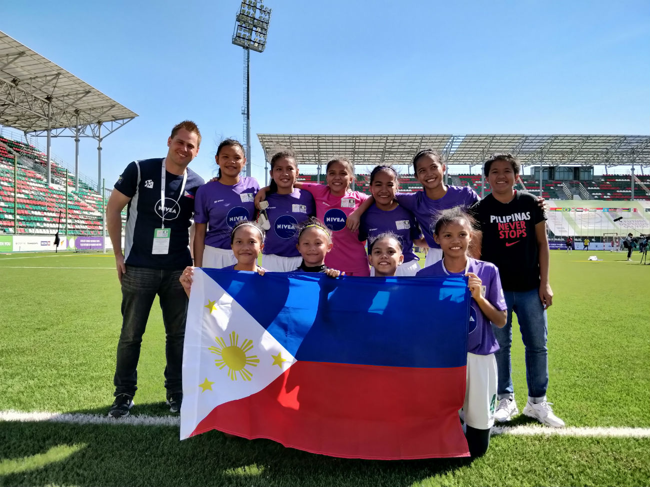 GALLANT STAND. Team Payatas-Philippines finishes 4th in the Street Child World Cup in Moscow, Russia. Photo from Team Philippines Street Child World Cup's Facebook page