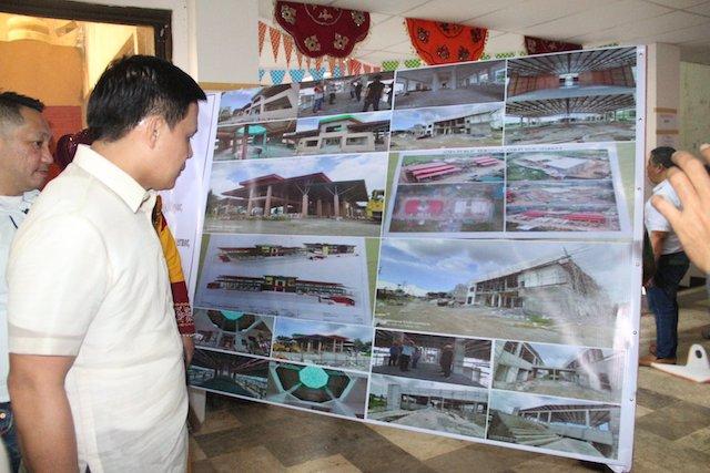 MARAWI REHABILITATION. Mayor Majul Gandamra looks at the projects for Marawi's rehabilitation. Photo from the City Government of Marawi Facebook Page