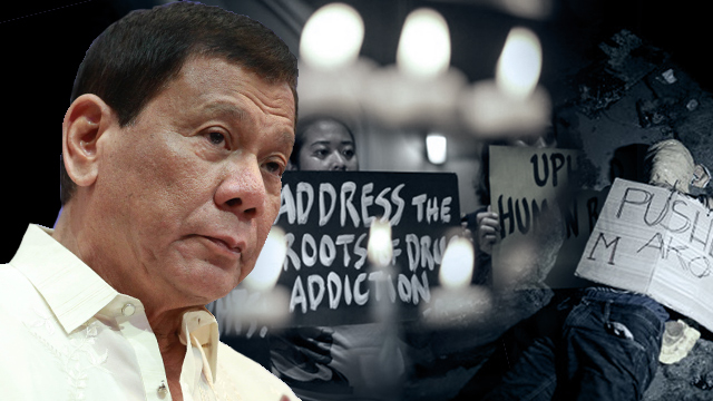 DEMONIZING. Human rights defenders took a beating in the first year of President Rodrigo Duterte.