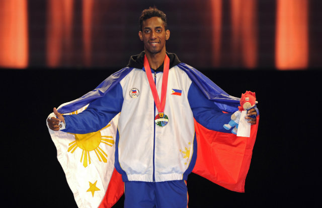 Samuel Morrison becomes the second FEU standout to win gold at the SEA Games. Photo by Singapore SEA Games Organising Committee/Action Images via Reuters