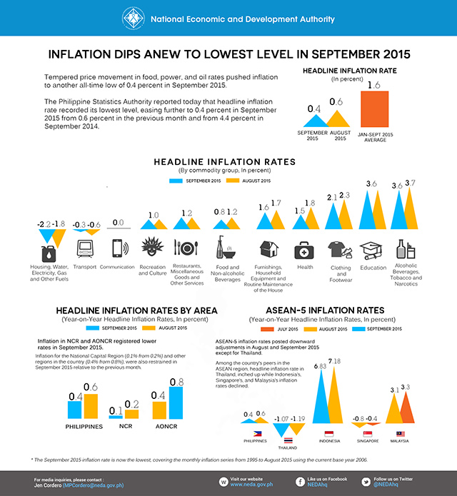 Infographic from the National Economic and Development Authority