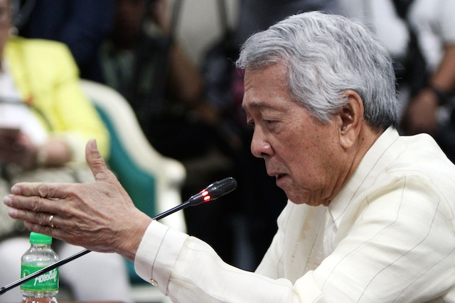 CITIZENSHIP WOES. Foreign Secretary Perfecto Yasay Jr is grilled about his US citizenship during his confirmation hearing at the Senate on March 8, 2017. Photo by Lito Boras/Rappler
