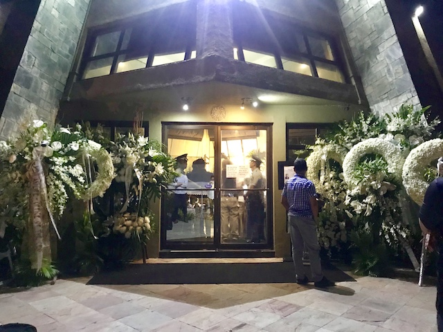 REMEMBERING NESTING. White flowers surround the chapel where Espenilla's remains lie. Photo by Ralf Rivas/Rappler