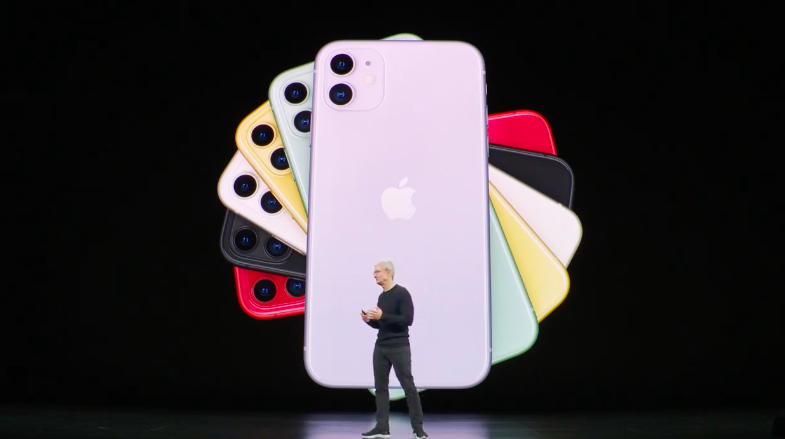 IPHONE 11. Screenshot from Apple live stream