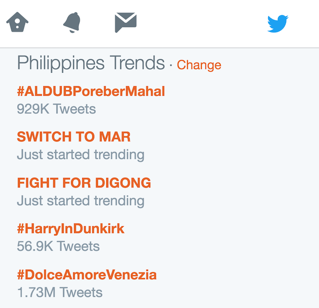 DIGONG vs MAR. Supporters of Duterte defend their candidate, while supporters of Roxas encouraged them to switch sides