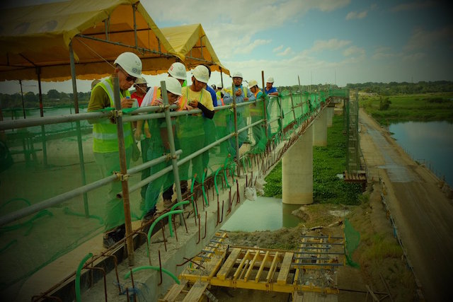 CONSTRUCTION. Phase II of the project is currently underway, and is expected to be completed by end-2017 or early 2018. Photo by Katerina Francisco/Rappler