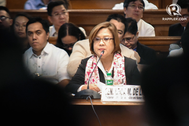 JAIL? Senator Leila de Lima prepares for the 'worst,' as she expects the release of an arrest warrant against her 'soon.' Rappler file photo