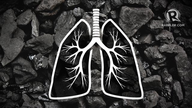 Image courtesy Mara Mercado/Rappler. Coal and lungs image courtesy Shutterstock.