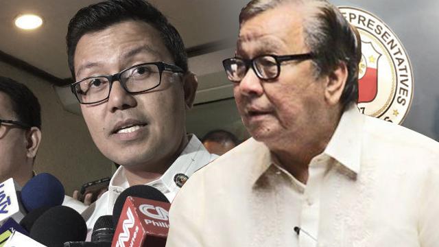 AKO Bicol Representative Alfredo Garbin Jr and Buhay Representative Lito Atienza engage in a heated discussion on May 20, 2019.