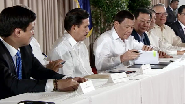 LESSENING RED TAPE. President Rodrigo Duterte signs into law the Ease of Doing Business Act of 2018. RTVM screenshot