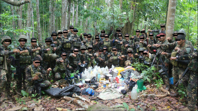 CAPTURED. A military battalion captures an encampment of Abu Sayyaf. Sourced photo