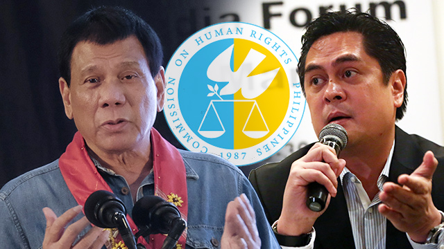 CLEARED OR NOT? The Commission on Human Rights dismisses the claim of Communications Secretary Martin Andanar that it already cleared President Rodrigo Duterte of involvement in the Davao Death Squad.