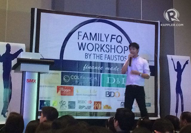 ABCs. Enrique, the Faustos' second son, warns about high-return, no-risk scams.