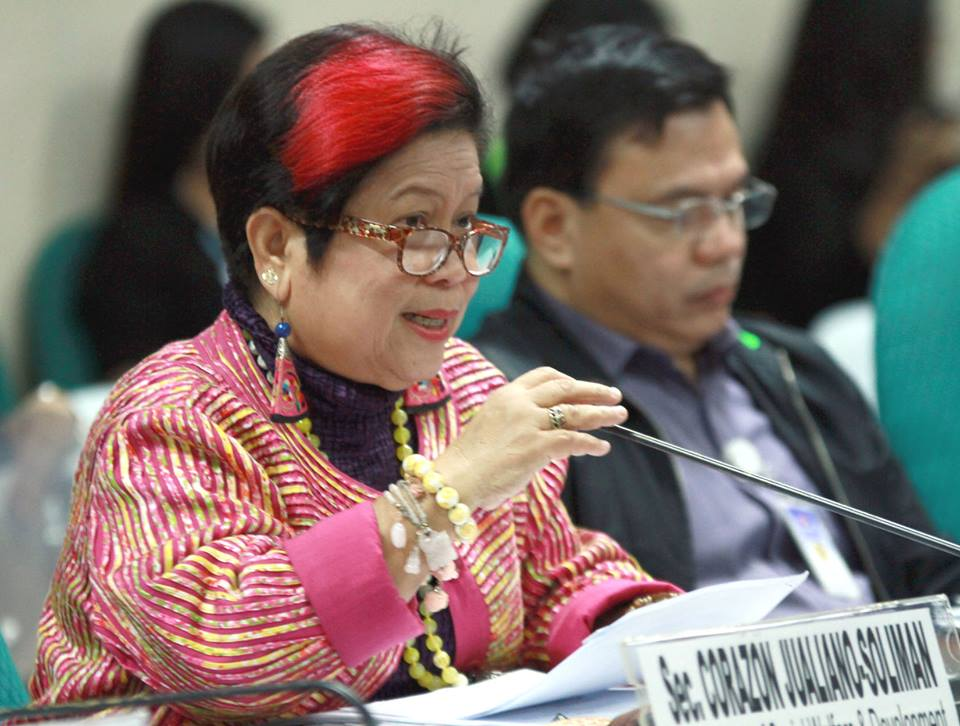 TOUGH CONFIRMATION. Social Welfare and Development Secretary Dinky Soliman was confirmed only after 4 years as Santiago gave her a difficult time, at one point taking issue with the Black and White Movement. File photo by Cesar Tomambo/Senate PRIB