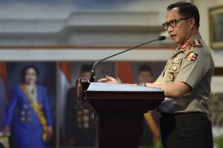 Kapolri Jenderal Muhammad Tito Karnavian di Kantor Presiden, Jakarta, Senin (31/7).FOTO oleh Puspa Perwitasari/ANTARA