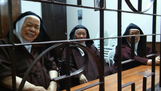 THEY HELPED CORY. (From left to right) Mother Aimee, Mother Ilaya, Mother Marietta. Photo by Ryan Macasero/Rappler