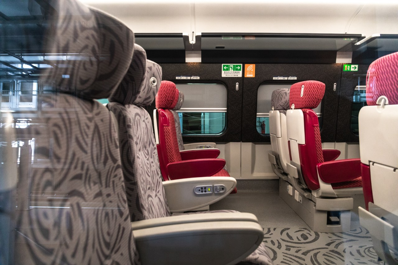 TRAVEL IN COMFORT. Check out the interiors of Hong Kong's new railway cars. Photo from HKTB