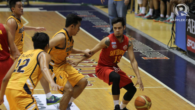 John Ortuoste finished with 18 points, 5 assists, and 4 rebounds in San Sebastian's win. Photo by Czeasar Dancel/Rappler