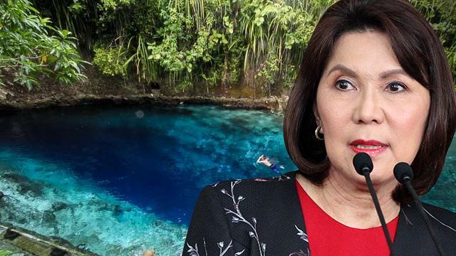 CONFUSED? Former Tourism chief Wanda Teo mistakenly calls the beautiful Enchanted River in Hinatuan as Enchanted Kingdom, a popular theme park.
