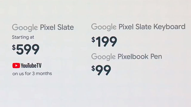 PIXEL SLATE PRICING. Screenshot from YouTube.