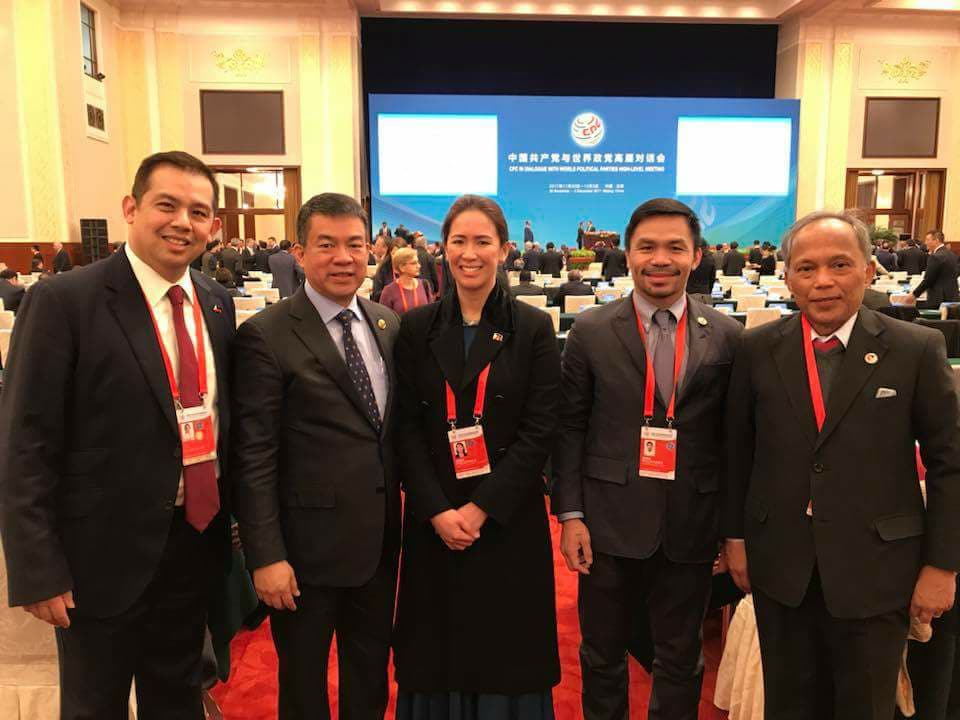 CHINA. Yu with several members of the PDP-Laban during a trip to Beijing, China in 2017. Photo from Pimentel's official Facebook account