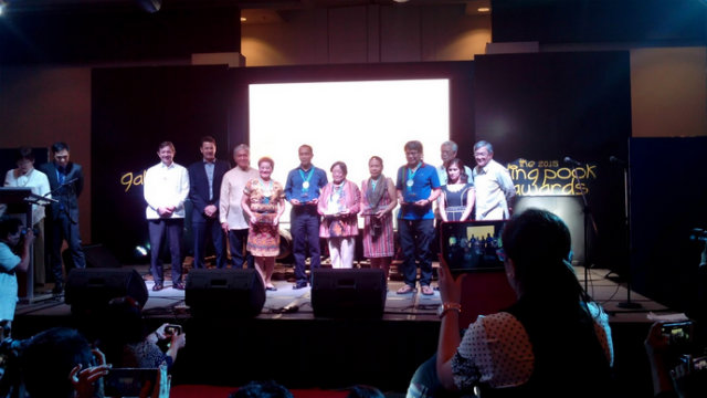 Representatives from Tagum Cooperative, Balay Mindanaw Foundation, Inc and Concerned Citizens of Abra for Good Government, Inc. receive their plaques as Galing Pook Citizenship awardees.