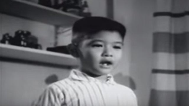 ACTOR? In the movie 'Iginuhit ng Tadhana', a young Bongbong Marcos recites a speech about his dream of becoming a politician. Screengrab from Youtube